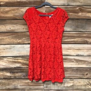 Bright lace Anthropologie dress